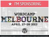 I'm Sponsoring WordCamp Melbourne 2013